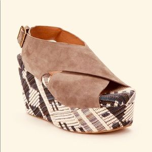 Jeffrey Campbell Pisa Wedge Platform Sandals
